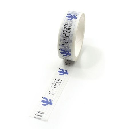 Fita Adesiva Washi Tape Cacto Quadriculado
