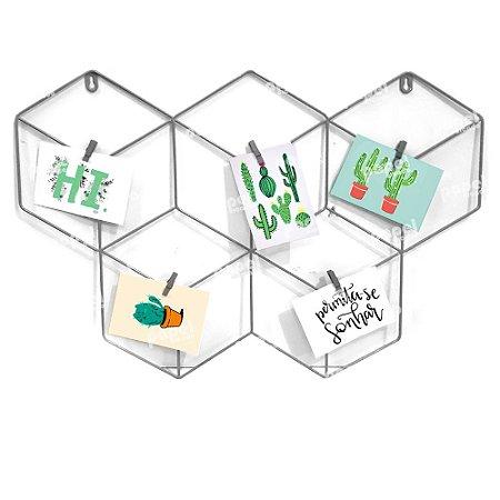 Memory Board Cinza Hexagonal