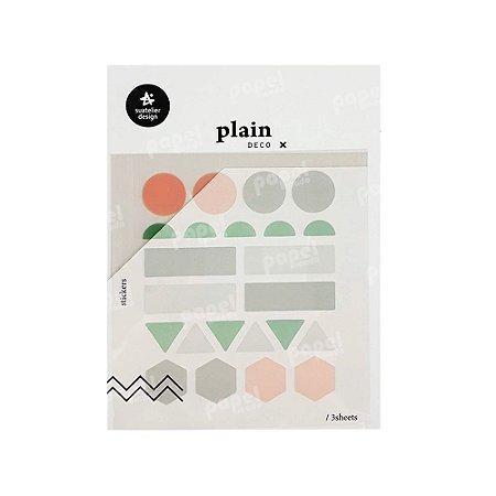 Adesivo Decorativo Geométricos Pastel