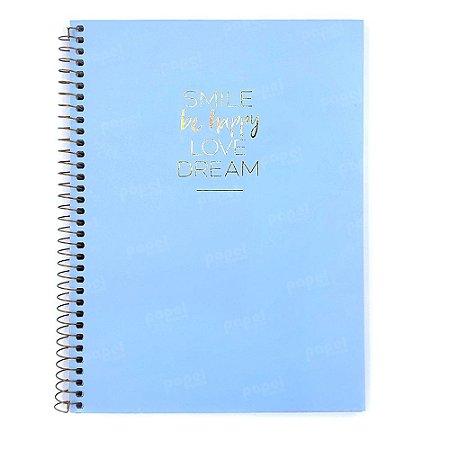 Caderno Happy Azul 10 Matérias