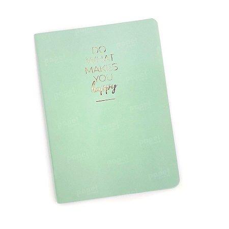 Caderninho Brochura Happy Verde Pautado