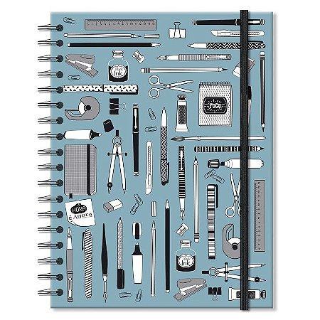 Caderno Office Azul Médio 96 folhas