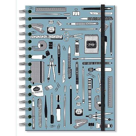 Caderno Midi Office Azul 96 folhas