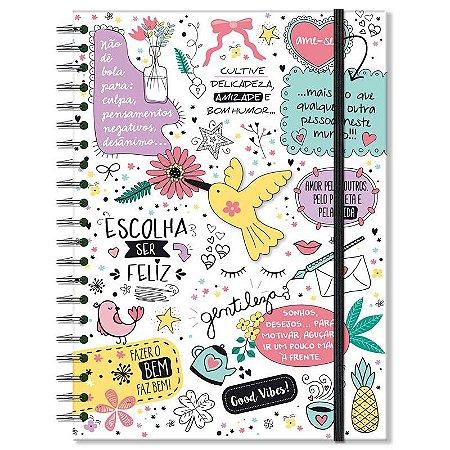 Caderno Beija-flor Grande 96 folhas