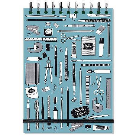 Caderno de Ideias e anotações Office Azul