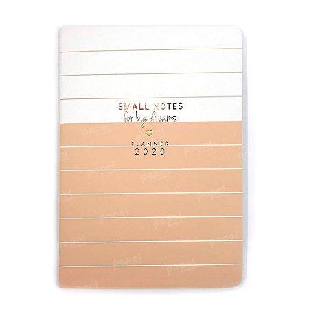 Planner Mensal Brochura Flexível Soho Linhas Rosé