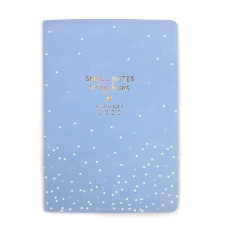 Planner Mensal Brochura Flexível Soho Bolinhas Azul