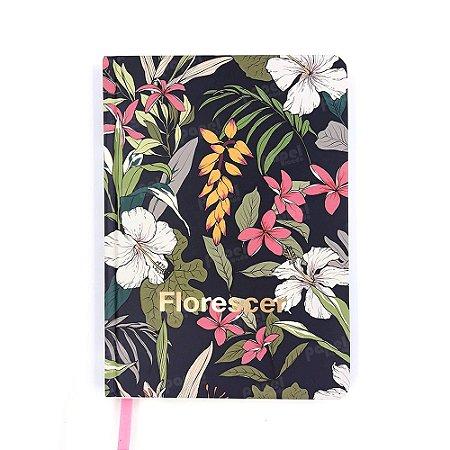 Caderneta Pautada Florescer Dourado