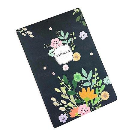 Caderninho Brochura Floral