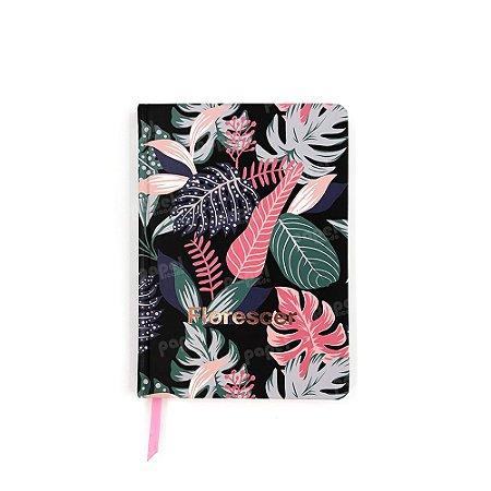 Caderneta Pequena Pautada Florescer Rosé