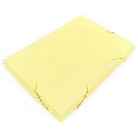 Pasta Fechamento em Elástico 4cm Amarelo Pastel