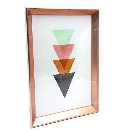 Quadro Decorativo Rosé Triangulos