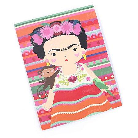 Planner Mensal Brochura Frida Colorido