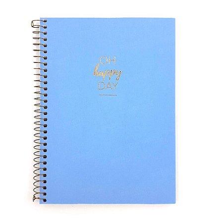 Caderno Happy Azul 10 Matérias Médio
