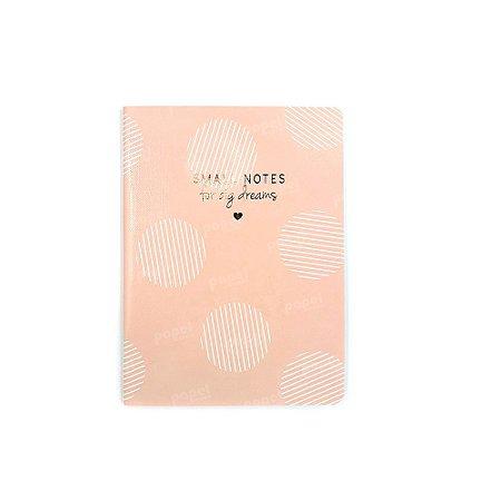 Caderninho Soho Círculos Rosa Pautado