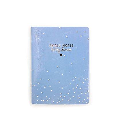 Caderninho Soho Bolinhas Azul Pastel