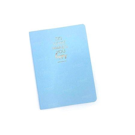 Caderninho Happy Azul
