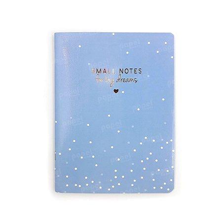 Caderninho Soho Bolinhas Azul Pastel Médio