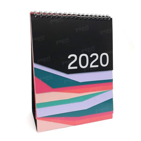 Calendário de Mesa Pastel 2020