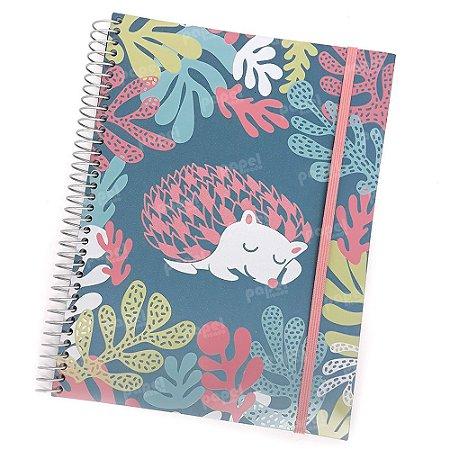Caderno Flexível Porco Espinho 200 Folhas