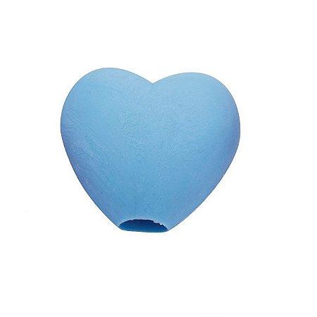 Borracha Divertida para Lápis Coração Azul