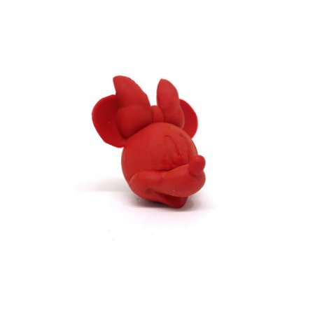 Borracha Divertida para Lápis Minnie Vermelha