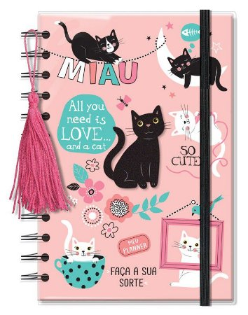 Planner Permanente Pequeno Gatos