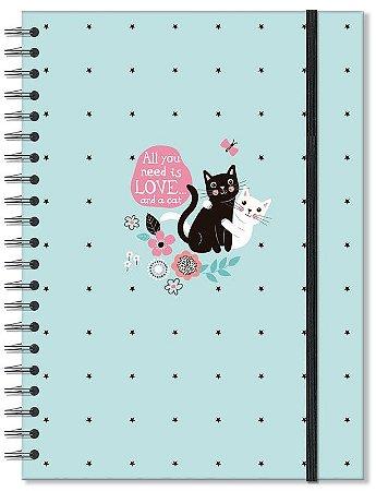 Caderno Gatos Grande 96 folhas