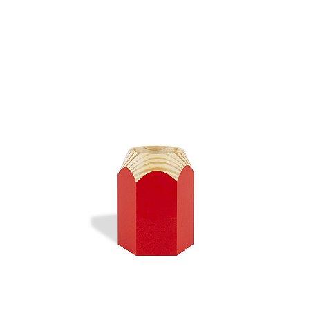 Porta Treco Lápis Vermelho
