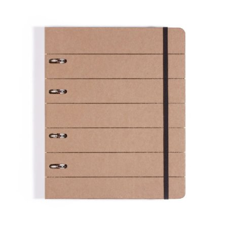 Caderno Fichário 4 Furos Kraft