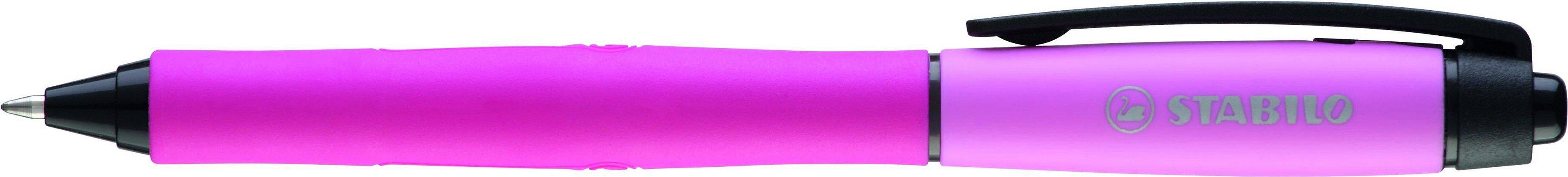 Caneta Stabilo Palette Rosa Tinta Preta