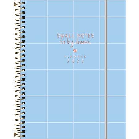 Planner 2020 Soho Quadriculado Azul Pastel