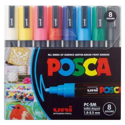 Conjunto Caneta Posca PC-5M 8 Cores