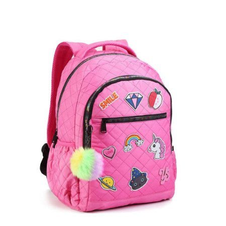 Mochila Patches Rosa