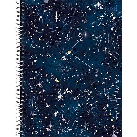 Caderno Espiral 80 Folhas Magic Constelações