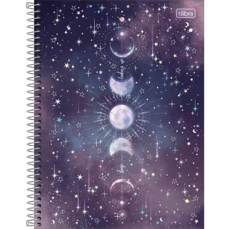 Caderno Espiral 160 Folhas Magic Luas