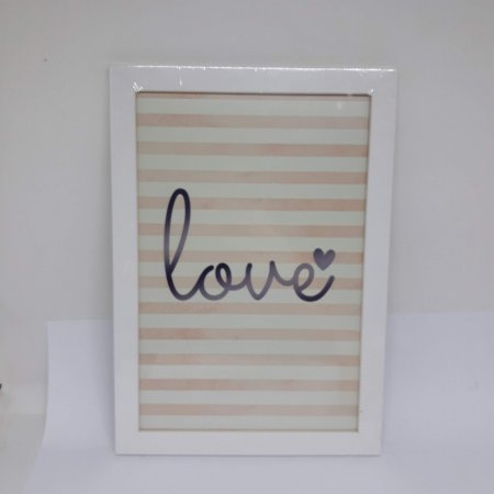 Quadro Decorativo Love Listras
