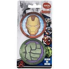 Boloco de Notas Com Post It Avengers