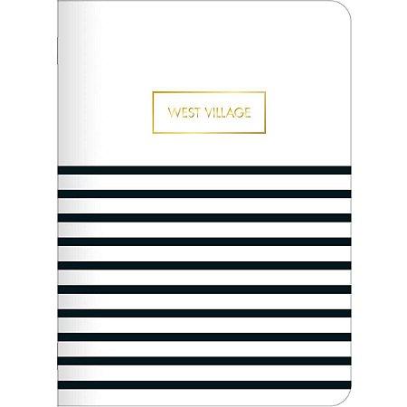 Caderninho Brochura West Village Listrado Pautado