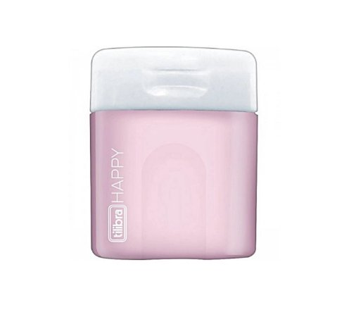Mini Apontador Happy Rosa Pastel