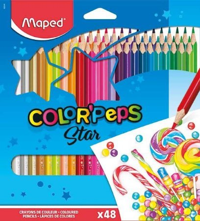 Conjunto Lápis Color' Peps Star 48 Cores