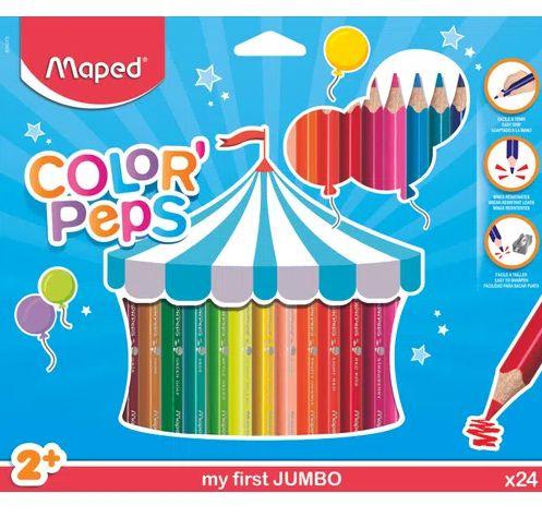 Lápis Color' Peps Jumbo 24 Cores