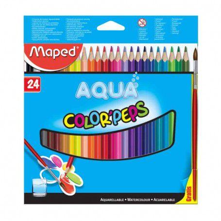 Conjunto de Lápis Aquerelável 24 Cores