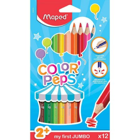 Lápis Color' Peps Jumbo 12 Cores