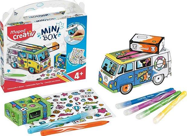 Kit Criativo Mini Box Ônibus