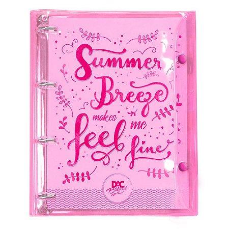 Fichário Summer Rosa transparente