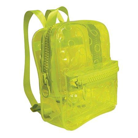 Mochila Translúcida Neon Amarela