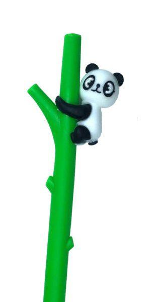 Caneta Divertida Panda Verde Escuro