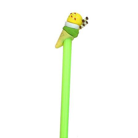 Caneta Divertida Sorvete Verde Limão