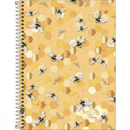 Caderno Universitário Abelha Sweet Like Honey 80 Folhas